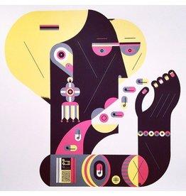 "Vivid Print Raymond Biesinger | Lady K Magasin 20"" Square Silkscreened Print"