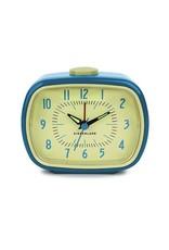 Kikkerland Retro Alarm Clock Blue