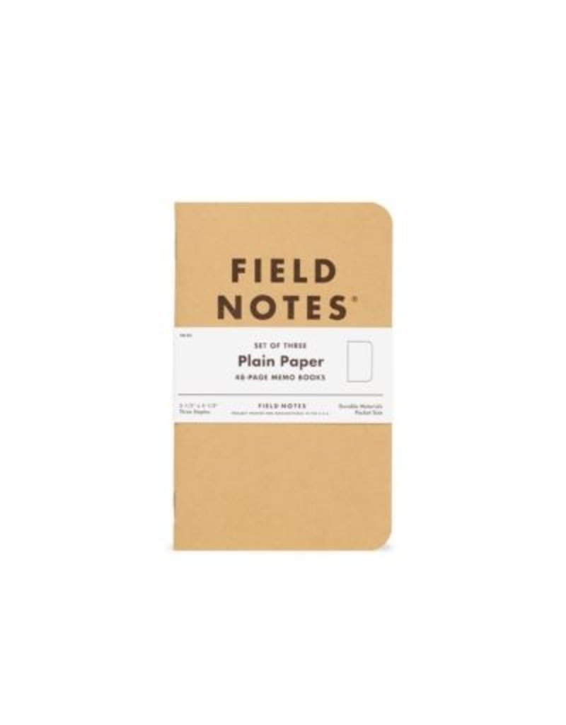 Field Notes Plain 3 Pack