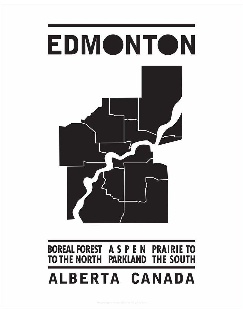 Vivid Print Bee Waeland | Edmonton Map Black