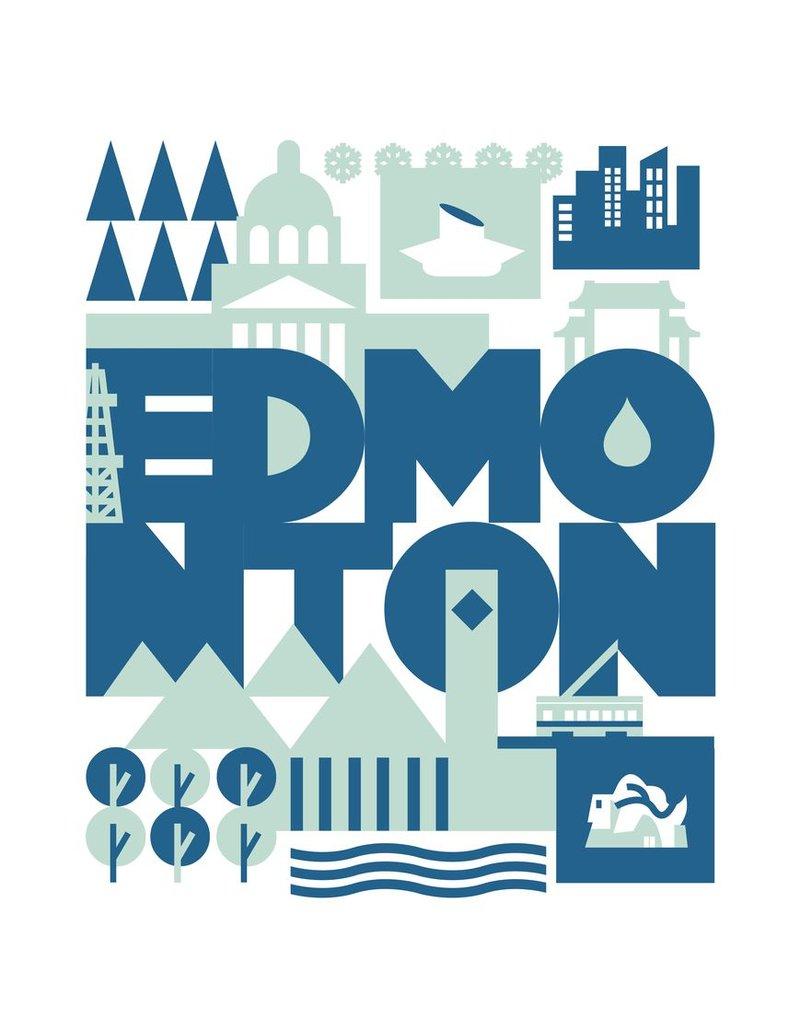 Vivid Print Bee Waeland | Edmonton, Green + Blue