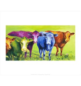 Vivid Print Ann Waeland | Coloured Cows<br />