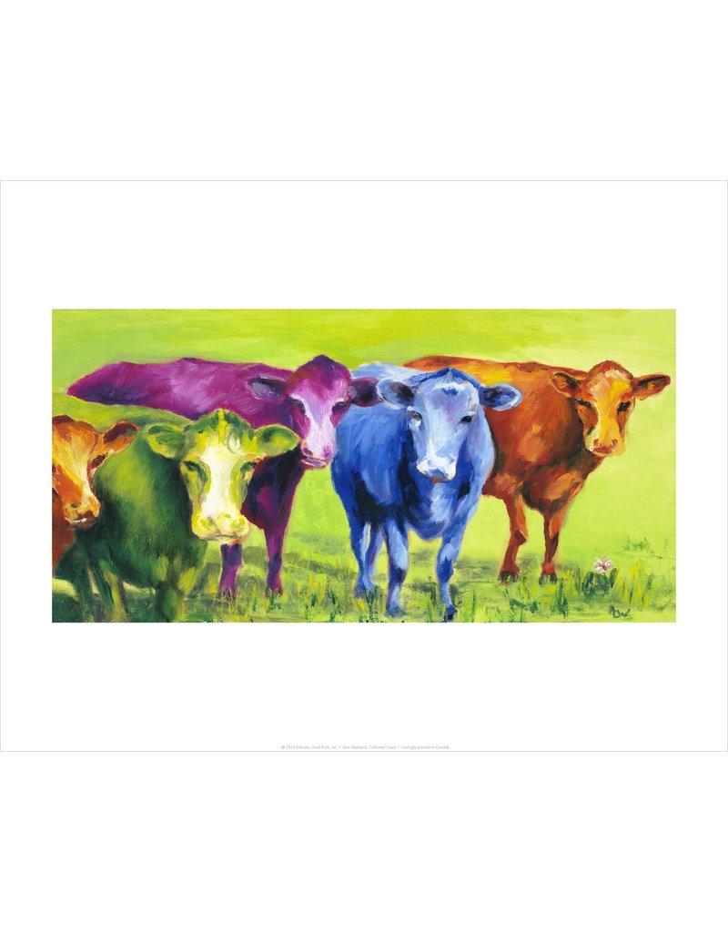 Vivid Print Ann Waeland | Coloured Cows<br /> Print