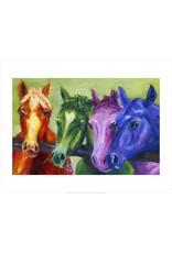 Vivid Print Ann Waeland | Coloured Horses<br /> Print