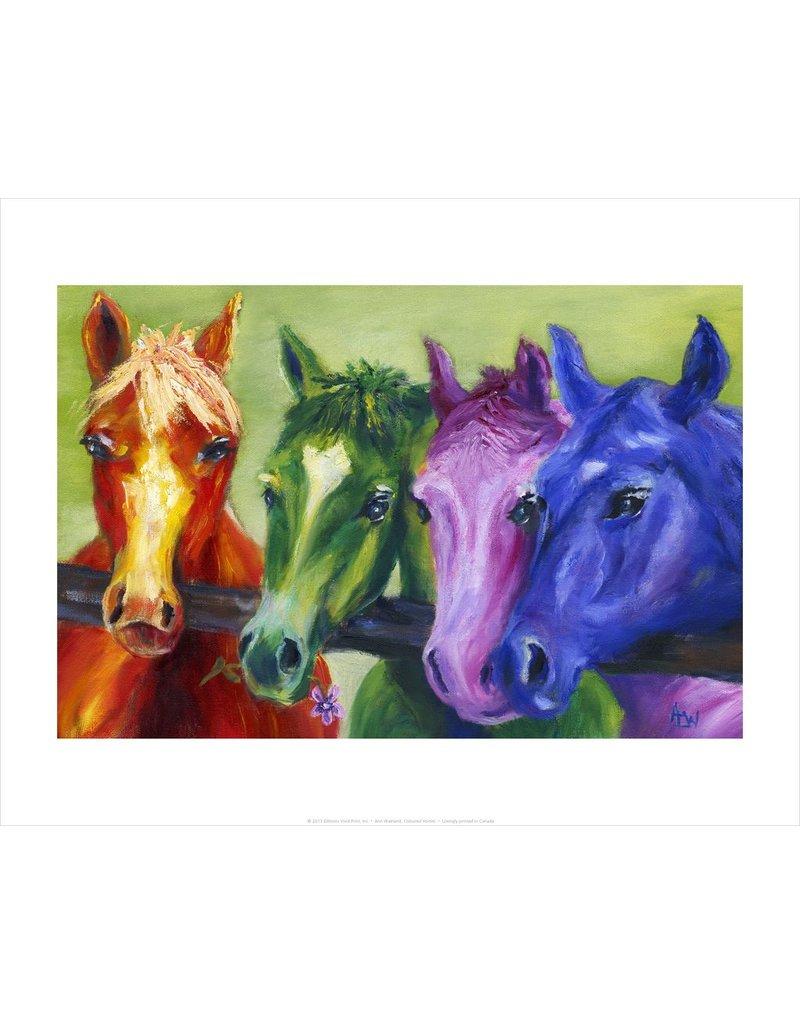Vivid Print Ann Waeland   Coloured Horses<br /> Print