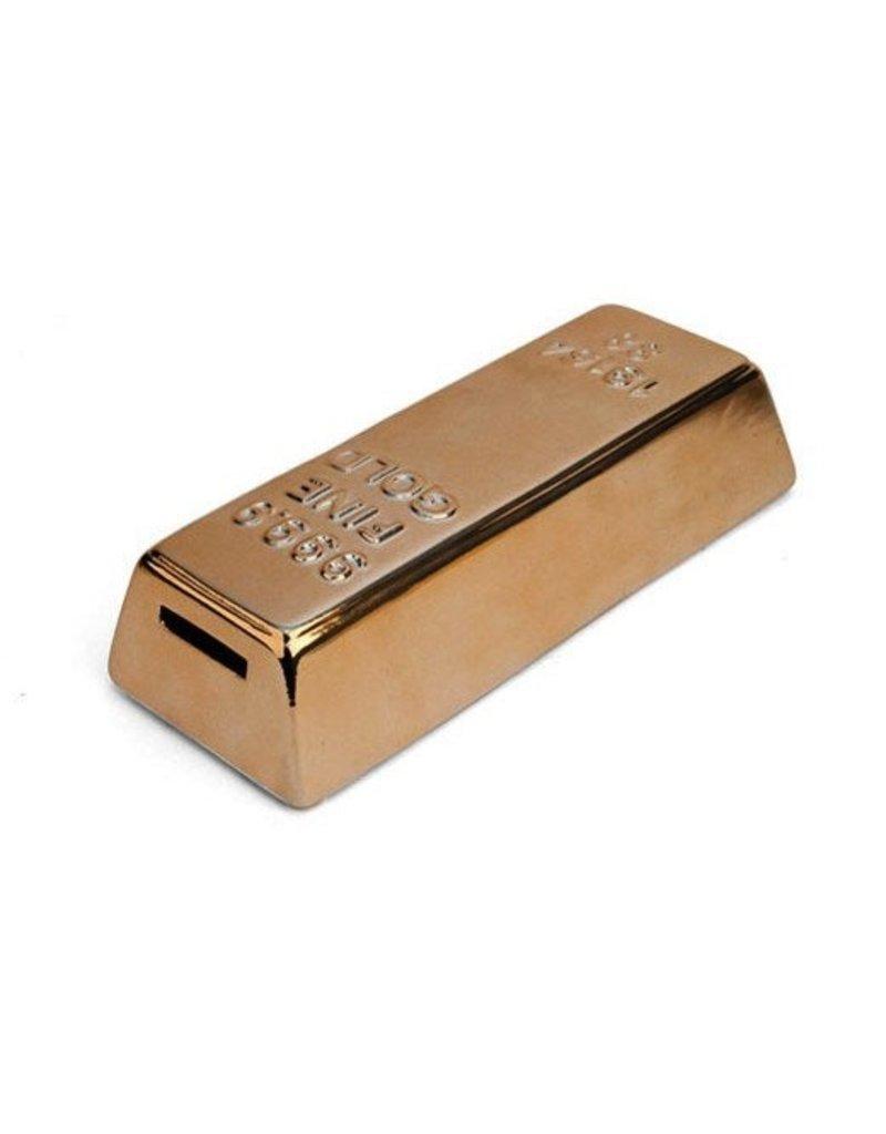 Kikkerland Coin Bank Gold Bar