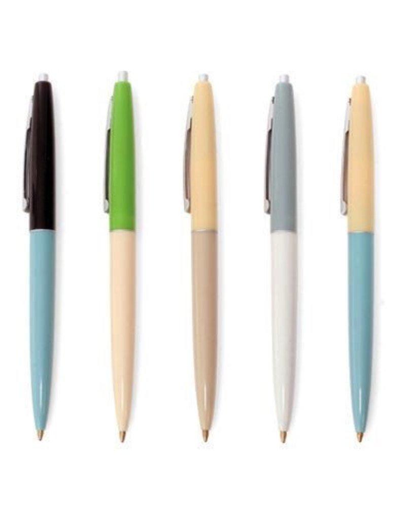 Kikkerland Retro Pens Set Of 5