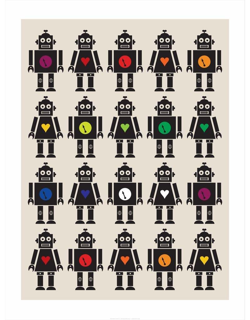 Vivid Print Bee Waeland | Robot Invasion