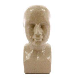 Phrenology Head - Ceramic - Lrg - White