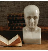 HomArt Phrenology Head - Ceramic - Lrg - White