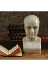 HomArt Phrenology Head - Ceramic - Lrg - White