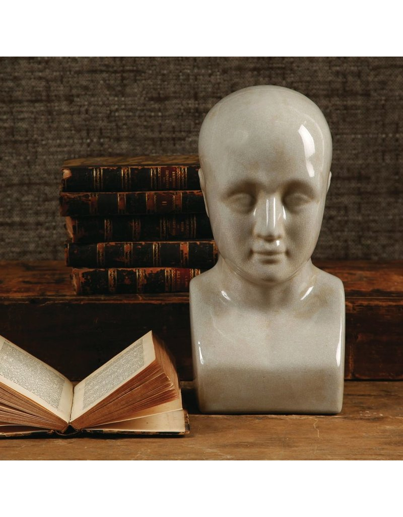 Phrenology Head - Ceramic - Lrg - White