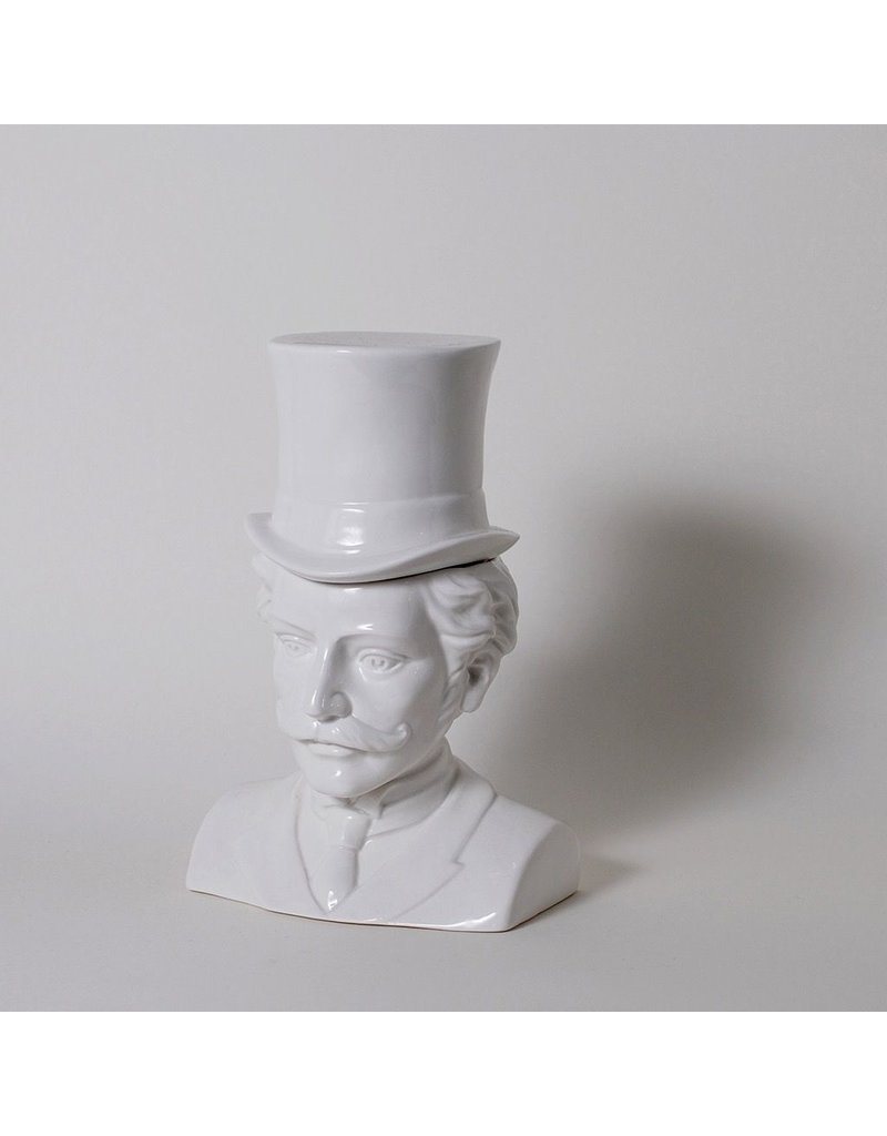 The Socialites Male Victorian Bust Ceramic Canister