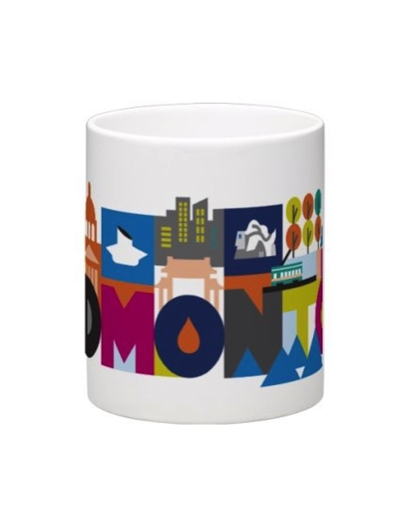 Vivid Print Bee Waeland | Edmonton Mug