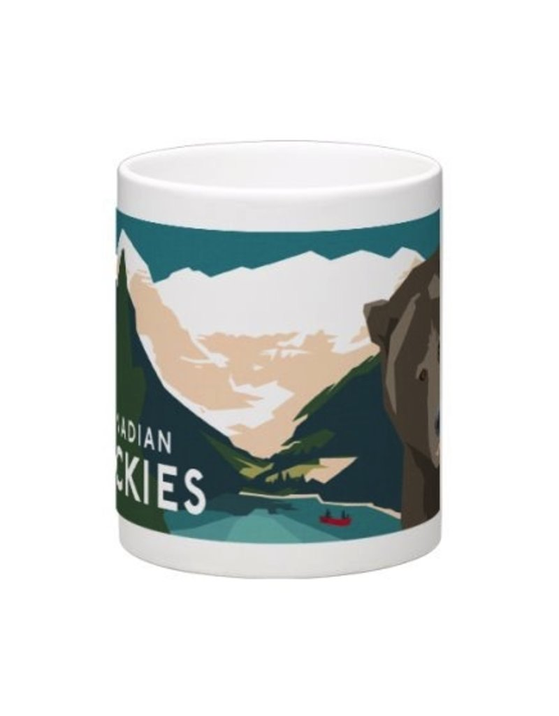 Vivid Print Bee Waeland | Canadian Rockies Mug