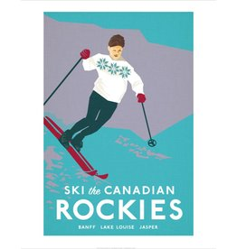 Vivid Print Bee Waeland   Ski Canadian