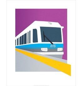 Vivid Print Bee Waeland | Light Rail