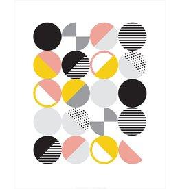 Vivid Print Bee Waeland   Randi Scandi Pink Yellow