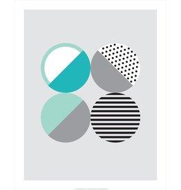 Vivid Print Bee Waeland   Randi Scandi 2 Teal Mint