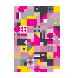 Vivid Print Bee Waeland | Allsorts Pink