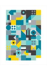 Vivid Print Bee Waeland | Allsorts Teal