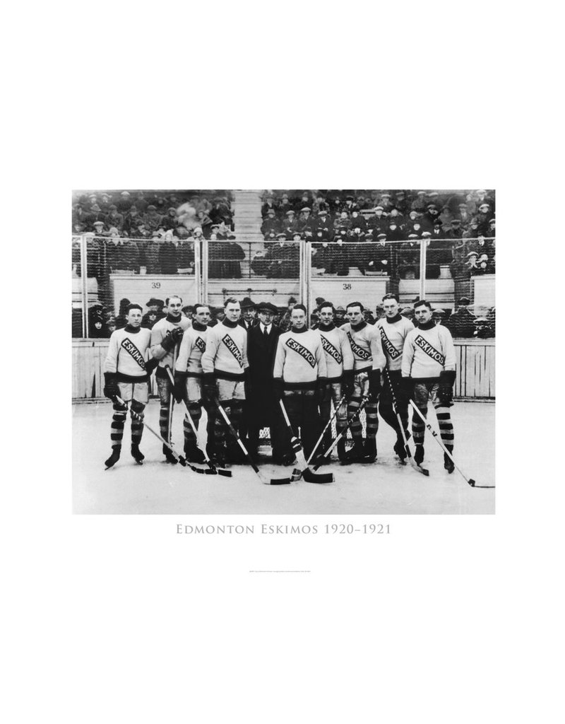 Vivid Archives Edmonton Eskimos Hockey Team 1920-1921 Metal Framed Print