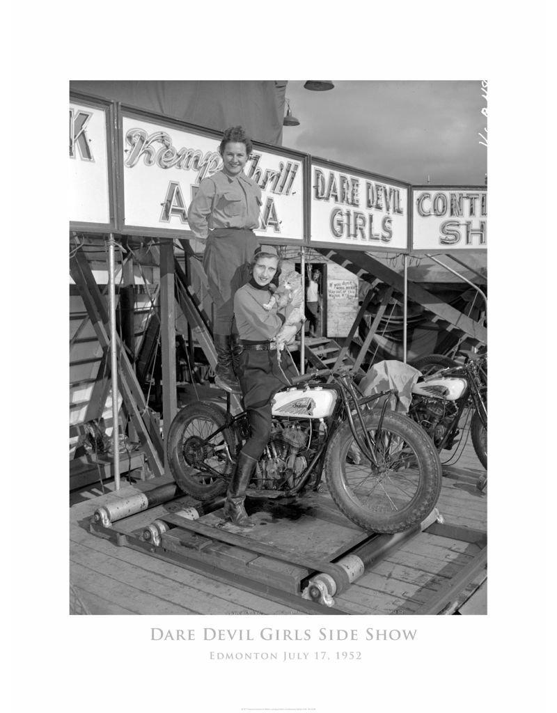 Vivid Archives Dare Devil Girls 1952 Metal Framed Print