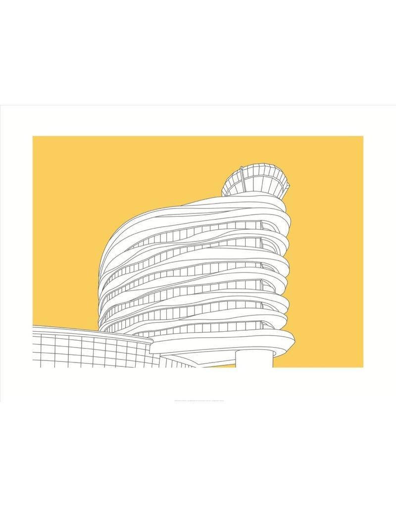 Vivid Print Bee Waeland   EIA Tower Framed Print