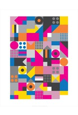 Vivid Print Bee Waeland   Allsorts Framed Print