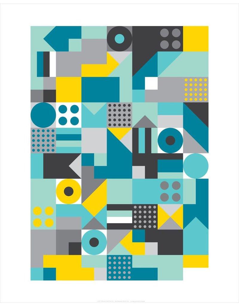 Vivid Print Bee Waeland   Allsorts Teal Framed Print