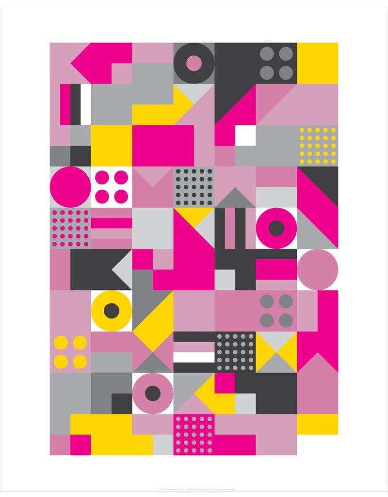 Vivid Print Bee Waeland | Allsorts Pink Framed Print