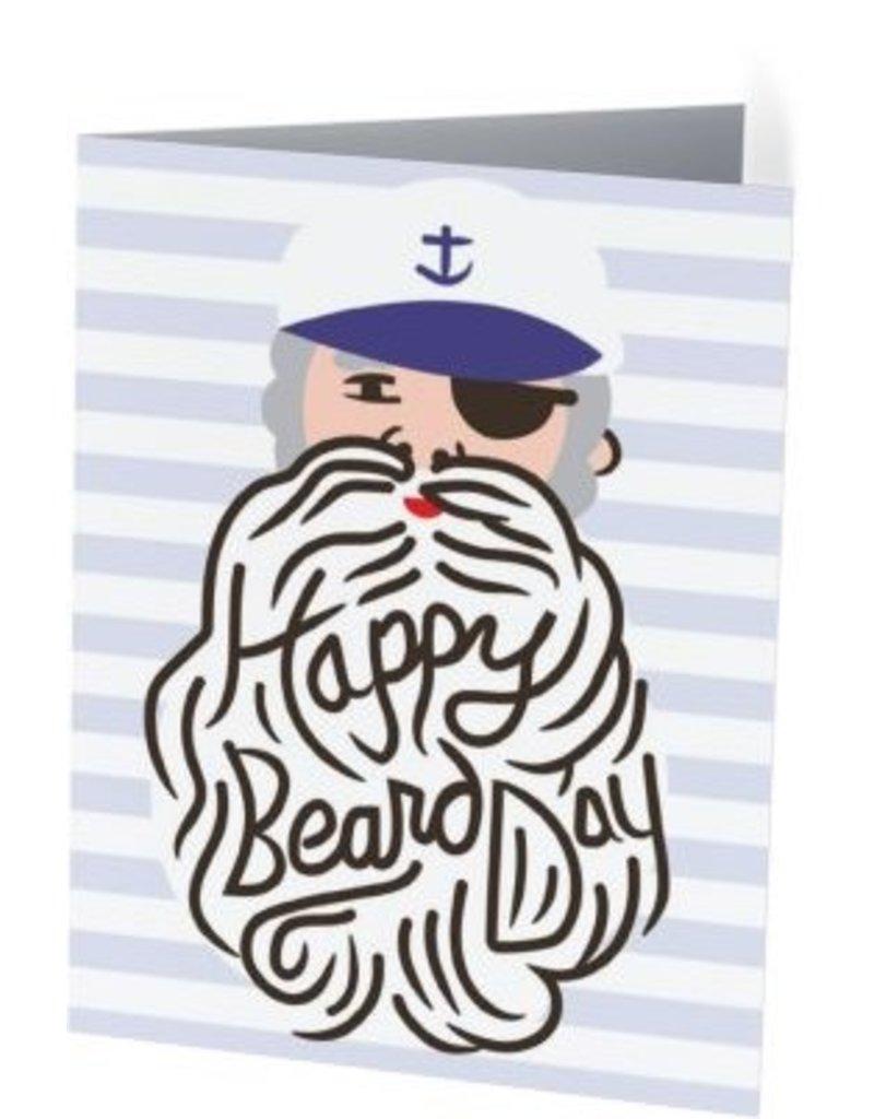 Vivid Print Happy Beard Day