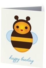 Vivid Print Happy Beeday