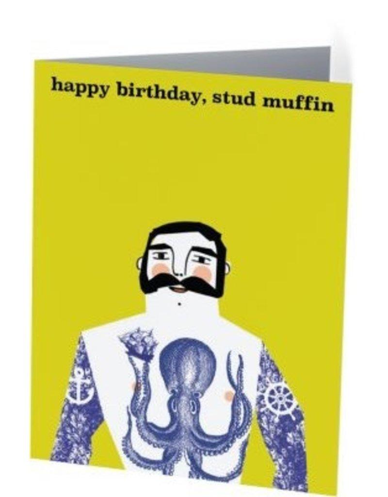 Vivid Print Stud Muffin