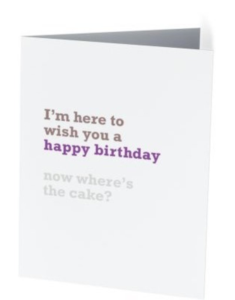 Vivid Print Where's The Cake