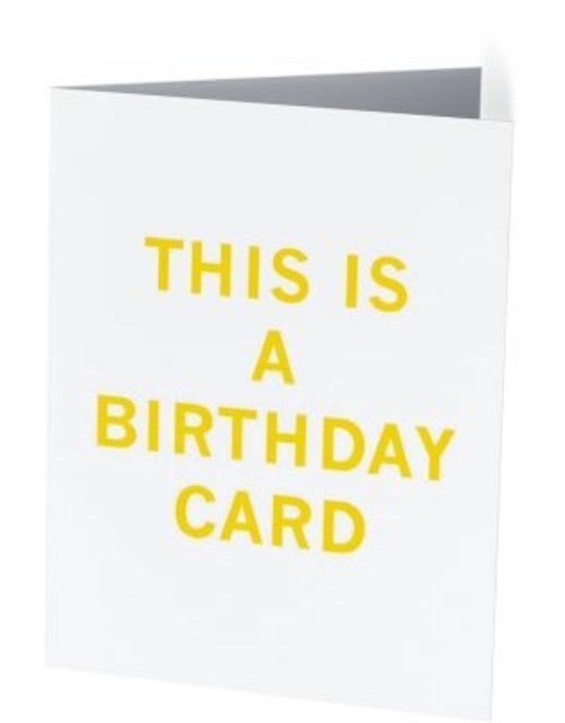 Vivid Print This Is A Birthday Card