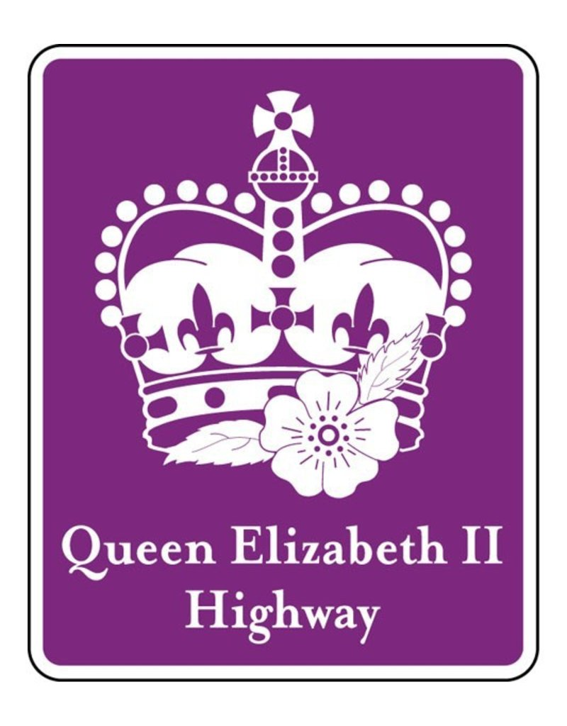 Queen Elizabeth II Highway Sign