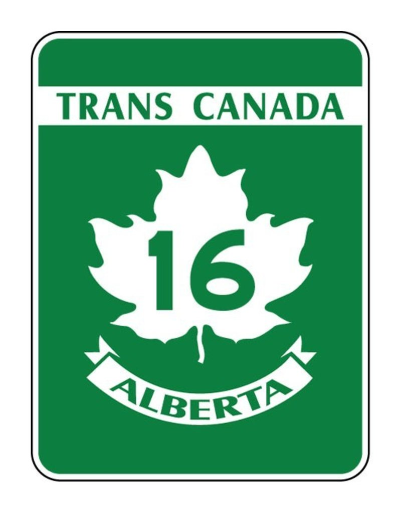 Trans-Canada Highway 16 Sign