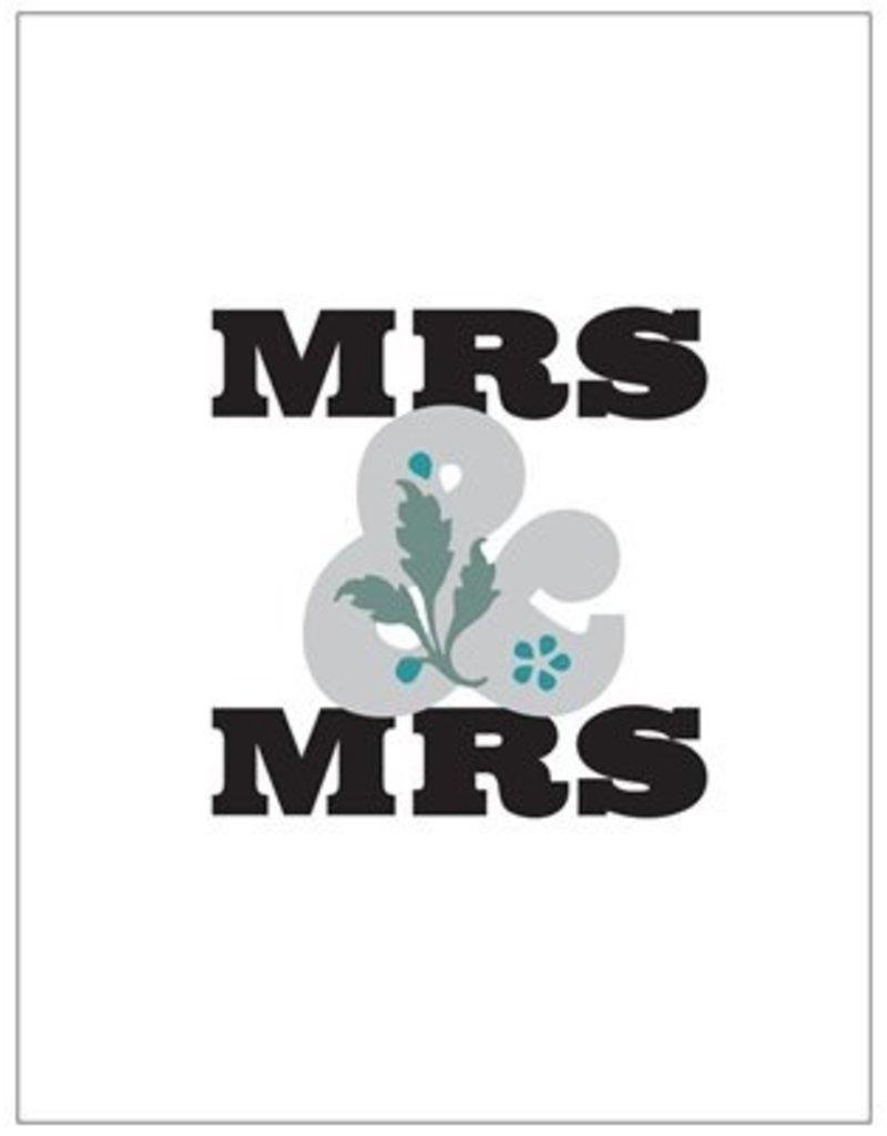 Vivid Print Mrs & Mrs
