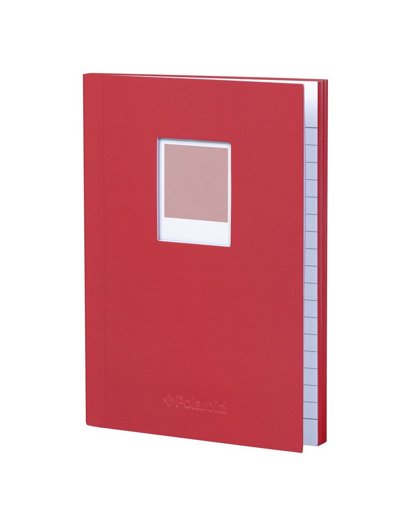 Wild & Wolfe Polaroid Soft Touch Small Notebook Red