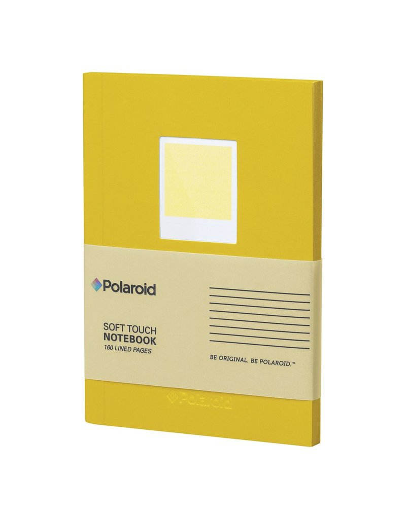 Wild & Wolfe Polaroid Soft Touch Small Notebook Yellow
