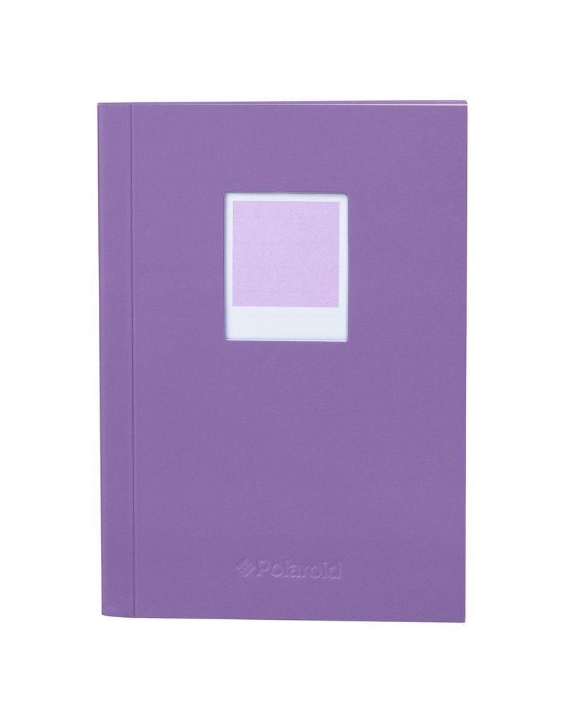 Wild & Wolfe Polaroid Soft Touch Small Notebook Purple