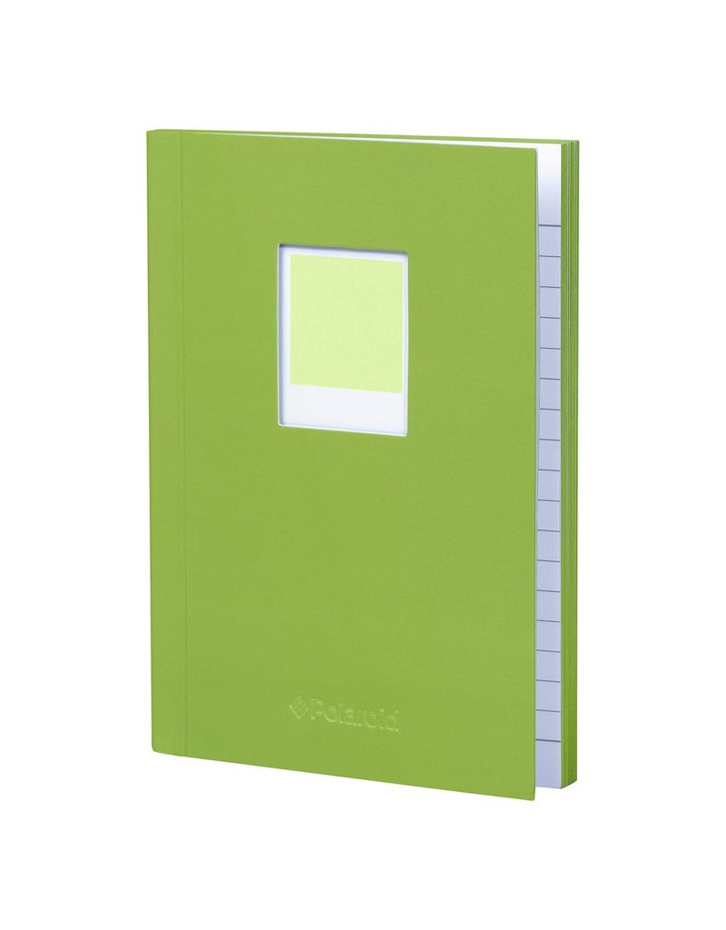 Wild & Wolfe Polaroid Soft Touch Small Notebook Green