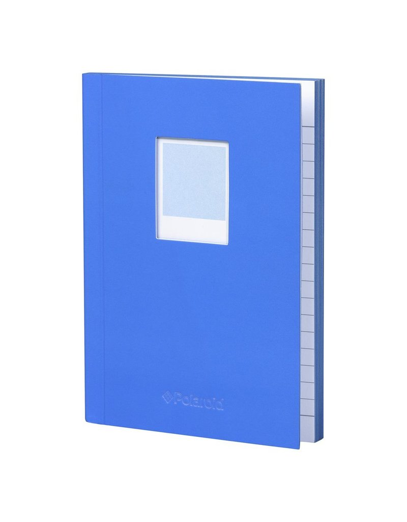 Wild & Wolfe Polaroid Soft Touch Small Notebook Blue
