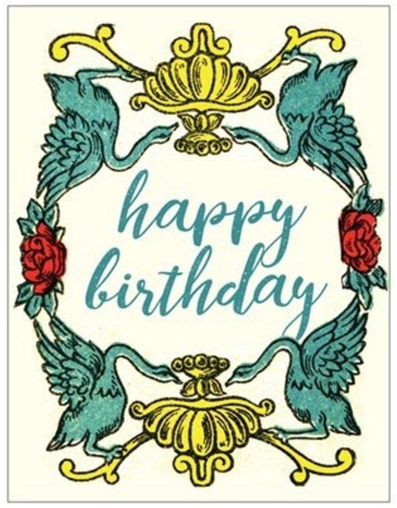 Vivid Print Birthday Swan