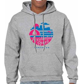 Vivid Print Accidental Beach Hoodie Unisex