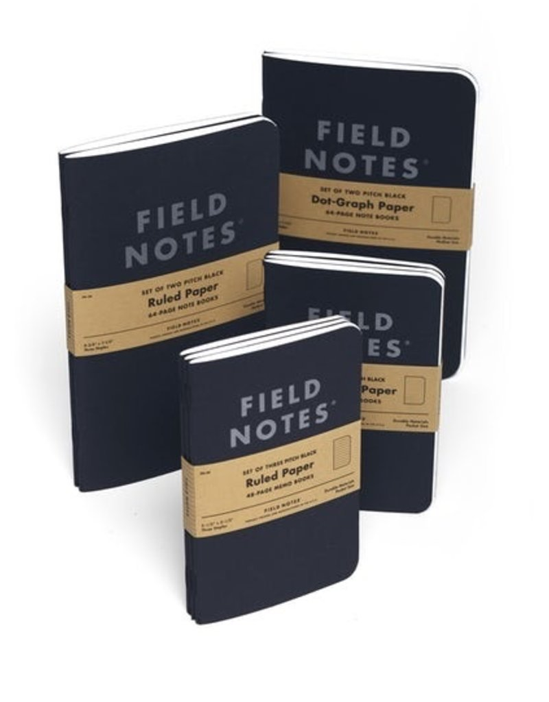 Field Notes Field Notes Pitch Black Ruled Small