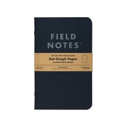 Field Notes Pitch Black Dot Graph Large