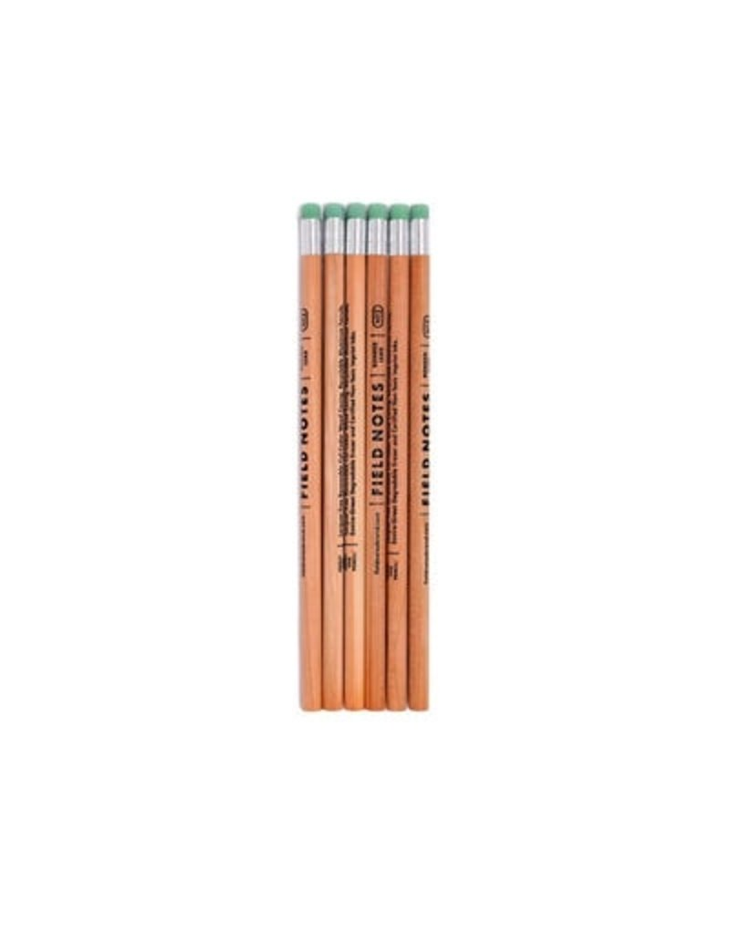 Field Notes Field Notes No.2 Woodgrain Pencil 6-Pack