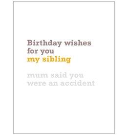 Vivid Print Sibling Birthday